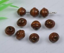 500Pcs 6X7mm brown color Bicone Wood loose spacer Beads