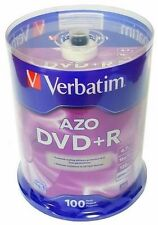 100 VERBATIM AZO Blank DVD+R Plus R 16X Branded Disc 4.7GB 100 pk Spindle 95098