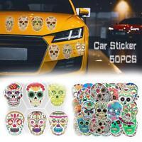 50pcs Sticker Sugar Skull Stickers Vinyl Car Skateboard Laptop Luggage Decal NEW