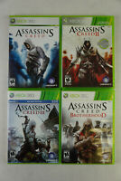 Assassin's Creed 1, 2, 3, Brotherhood Xbox 360 Lot of 4