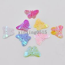 2 hole 60PCS mix shiny butterfly sequins Paillette sewing Wedding decoration DIY