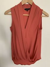 River Island Rust cross over Blouse - size 6