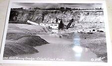 GOLD MINING DREDGE CRIPPLE CREEK ALASKA GRIFFIN`S PHOTO NOS REAL PHOTO KODAK