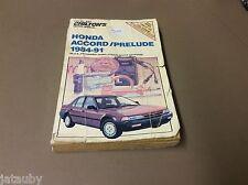 CHILTON HONDA ACCORD/PRELUDE 1984-91 REPAIR MANUAL