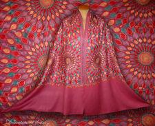 Superbe Châle du Cachemire coloris rose, entièrement brodé - CH186
