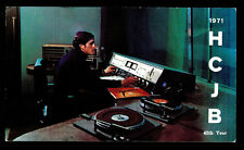 "QSL ""HCJB"" 9.560 MHz Radio Quito 40th Anniv Studio & DJ Shortwave DX SWL 1971"