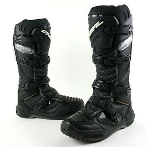 O'Neal O Neal MX Element Men's Size 10 Offroad Motocross ATV Boots Black/Leather
