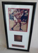 Great CHICAGO BULLS SCOTTIE PIPPEN Signed Photograph in Framed Memorabilia Box