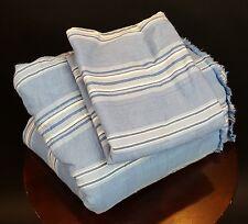 Antique Tickin 00006000 g Fabric Blue White Stripe Quilt Cotton 2 Pounds 8 Yards Narrow