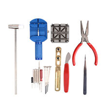16pcs Watch Link Remover Repair Set Wrist Band Strap Adjust Watchmaker Tool Kit