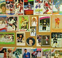1969-70/80's+ NHL Lot [] Bobby Orr/Gordie Howe/Lemieux/Coffey/Fuhr/Bossy/Dionne+