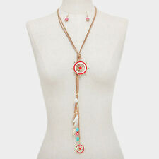 Faux Suede Helm and Sea Life FASHION Necklace Set