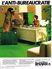 PUBLICITE ADVERTISING 085  1978  STRAFOR  mobilier de bureau 2