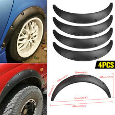 4PCS Universal Car Fender Flares Extra Wide Body Tires Wheel Arches Flexible US