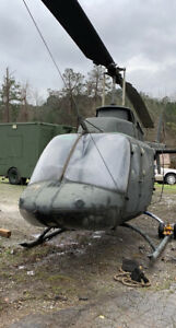 Oh58 Helicopter No Engine Mostly Complete Static Display Or Possible Rebuild
