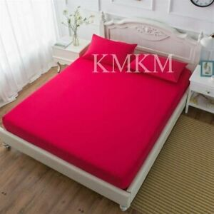 2/3PC Bed Sheet Sets With Case Mattress Cover Brushed Microfiber Soft Breathable