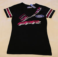 Ford Performance Racing FPR Ladies Black Foil Print V Neck T Shirt Size 10 New