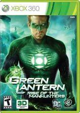 Green Lantern: Rise of the Manhunters (Microsoft Xbox 360, 2011) -Complete