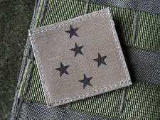 Galon SNAKE PATCH - GENERAL D'ARMEE (5 étoiles)  BASSE VISIBILITE - OD
