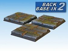 50mm Resin Scenic Bases (3) Square Paved Warhammer