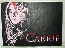 Canvas Painting Chloe Grace Moretz as Carrie Black B&W Art 16x12 inch Acrylic