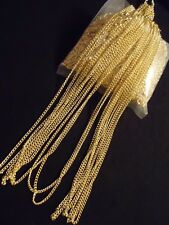 "Wholesale Lot OF 10 Gold Plated 17""  2MM  Necklace Liquidation DIY Chain  G17"