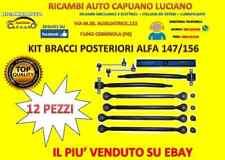 KIT BRACCI SOSPENSIONI POSTERIORI ALFA ROMEO 147 - 156 - GT 12 PEZZI