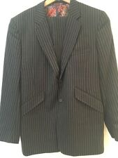 William Hunt Men's Men's Grey Pinstripe Suit 42 UK