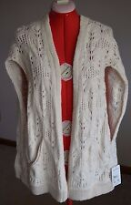 FREE PEOPLE NWT Sweater Vest Small Ivory Angora Retail $168