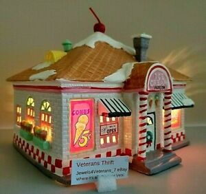 Department 56 Snow Village- 56 Flavors Ice Cream Parlor #5151-9 New Retired💖
