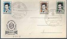 1961 Uruguay FDC  Scott 671-3