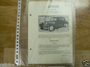 C1-CITROEN TYPE 11 1945 T/M 1952 -TECHNICAL INFO