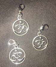 OM Pendant Charm Lot of 3 Healing Jewelry Buddhist Sacred Symbols Yoga wholesale