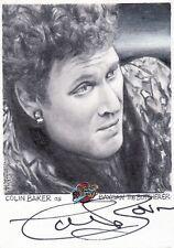 Blakes Blake's 7 Series 2 Ultra Rare Colin Baker / JD Seeber Auto Sketch Card