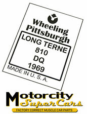 1969 Pittsburgh Steel Gas Fuel Tank Stencil Stamp Logo PITTS69 GM