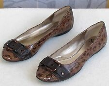 9 | Sofft Women Croc Embossed Leather Animal Print Casual Ballet Flats Shoes