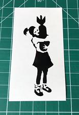 Banksy Chica Con Bomba Pegatinas Calcomanías Adhesivas Pared Coche Furgoneta Ventana Parachoques portátil