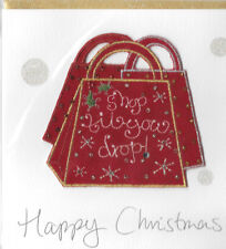 Christmas Holiday Cards 3D Mei Fields 6x6 Handmade Happy Christmas Bag UK Import
