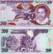 Tanzania Africa 20 Shilingi Unc 1986 p-15