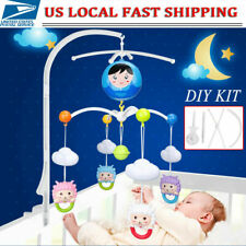360 Rotate Baby Kids Crib Mobile Bed Bell Toy Holder Arm Bracket Hang Music Box