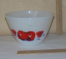 "APPLE and CHERRY ""Non-Splash"" BOWL - Anchor Hocking Fire-King - used - number 1"
