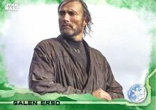 Star Wars Rogue One Green Parallel Base Card #38 Galen Erso