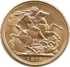 More details for 1915 british king george v st george and the dragon full sovereign gold coin