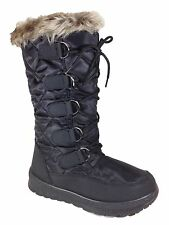 NEW Women's Winter Boots Snow Fur Warm Insulated Waterproof Zipper Ski Shoes