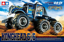 Tamiya 58646 1/18 Scale EP RC Off Road Truck G6-01 Chassis Konghead 6x6 Car Kit
