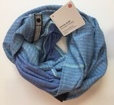 NWT Lululemon Vinyasa Scarf - HTTP Blue Herringbone READ SHIP