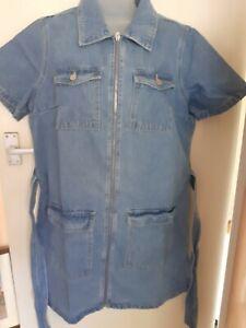 Studio Women's Denim Pleated Mini Dress, Size 18, Casual, Holiday, Blu155113