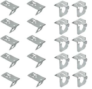 10x kitchen leg plinth clips stainless steel kick board panel bracket spring