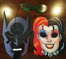 2016 SDCC WONDERCON DC CARDBOARD MASK SET OF 3 BATMAN HARLEY QUINN GREEN LANTERN