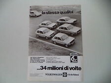 advertising Pubblicità 1979 VOLKSWAGEN POLO/DERBY/MAGGIOLINO BEETLE/GOLF/PASSAT
